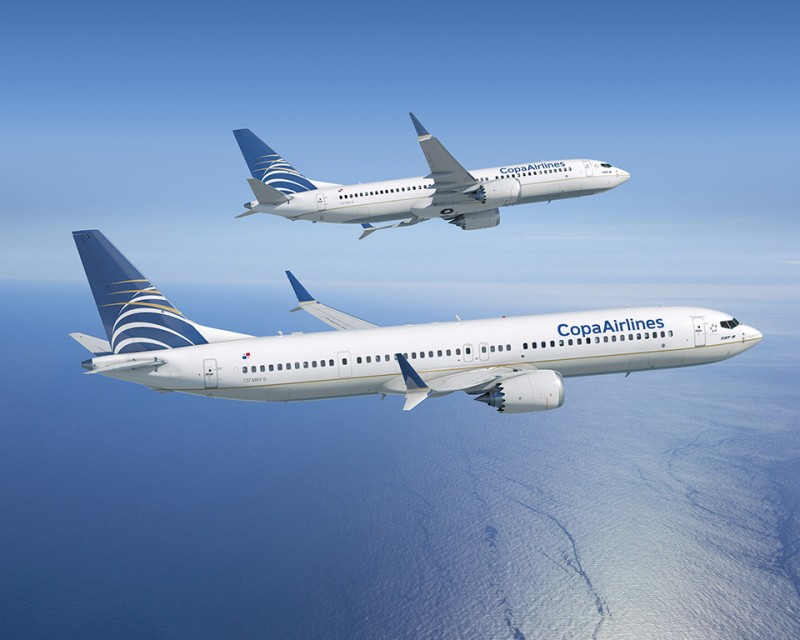 copa airlines, Copa Airlines faz encomenda de Boeing 737 MAX 8 e MAX 9, Portal Aviação Brasil