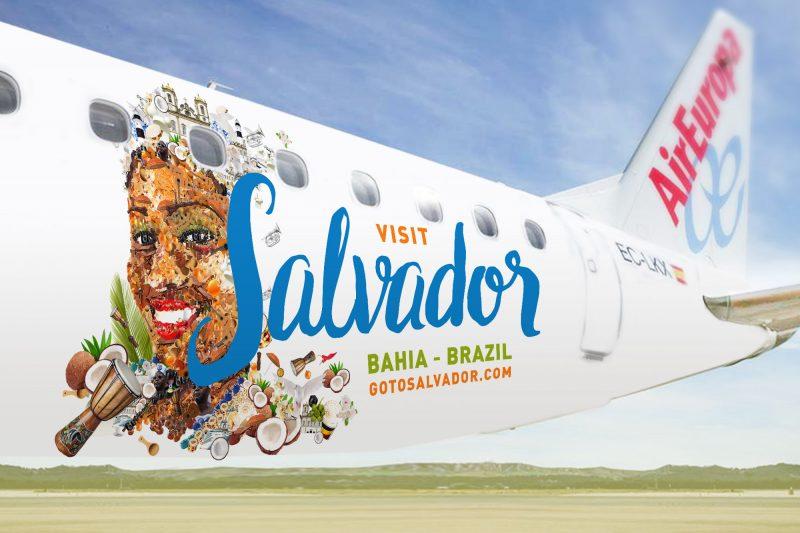 , Air Europa apresenta Embraer 195 com as cores de Salvador, Portal Aviação Brasil